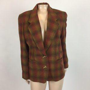 Vintage 80s Anne Klein Structured Blazer Wool GG11